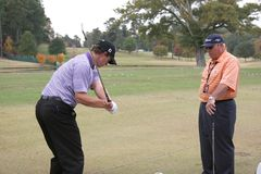 Scott and Harmon, Tour Championship, Atlanta, 2006 Stock Image