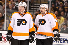 Scott Hartnell and Andrej Meszaros Royalty Free Stock Photography