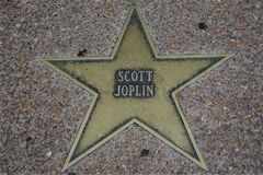 Scott Joplin Star, St Louis Walk da fama fotografia de stock royalty free