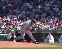 Scott Kazmir. Tampa Bay Ray pitcher Scott Kazmir in action against the Boston Red Sox.   Image taken from color slide Stock Images