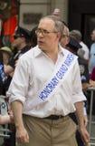 Scott M Frilansreporter på 2015 firar Israel Parade i New York Arkivbild