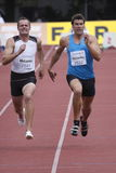 Scott McLaren and Kyle McCarthy at decathlon Stock Image