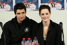 Scott Moir and Tessa Virtue press conference Royalty Free Stock Photography