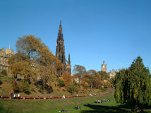Scott monument. In Princes street gardens, Edinburgh Stock Image