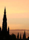 Scott Monument  at dusk Stock Image