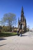 Scott Monument Edinburg, Skottland Royaltyfri Fotografi
