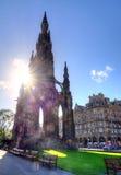 Scott Monument Edinburgh Arkivfoton