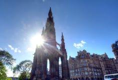Scott Monument Edinburgh Arkivfoto