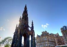Scott Monument Edinburgh Royaltyfria Bilder