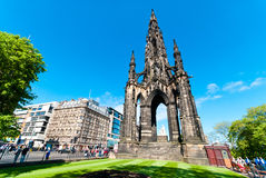 Scott Monument in Edinburgh Royalty Free Stock Photo