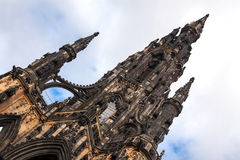 Scott Monument in Edinburgh Scotland Stock Photos