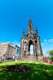Scott Monument i Edinburg Arkivfoton