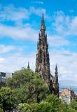 Scott Monument i Edinburg Arkivfoto