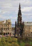 Scott Monument i Edinburg, Skottland Arkivbild