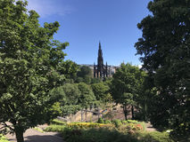 Scott Monument i Edinburg Skottland Arkivbilder