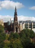 Scott Monument i Edinburg Skottland för prinsgataträdgårdar Royaltyfri Bild