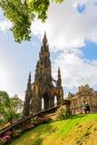 Scott Monument i Edinburg, UK Royaltyfri Foto