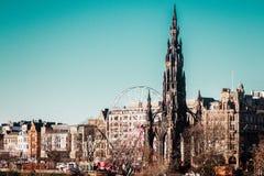 Scott Monument på prinsessan Street i Edinburg, Skottland, Förenade kungariket Arkivfoton