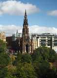 The Scott Monument in Princes Street Gardens Edinburgh Scotland. With Sir Walter Scott statue inside Royalty Free Stock Image