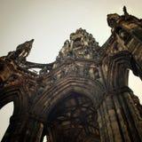 Scott Monument tappningeffekt Viktoriansk gotisk arkitektur retur Arkivfoton