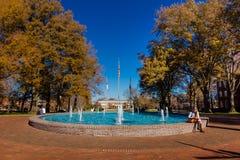 Scott Plaza and Fonville Fountain at Elon University Stock Photos