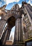 Scott Pomnikowy Edynburg Szkocja UK Obrazy Stock