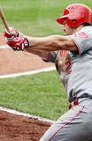 Scott Rolen of the Red. Swings in the batter's box d Royalty Free Stock Photos