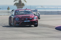 Scott Speed 41, drives a Volkswagen Beetle car, during the Red B Royalty Free Stock Photography
