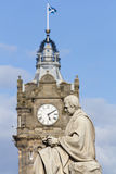 Scott Statue and Balmoral Clock Tower Royalty Free Stock Photo
