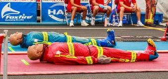 Scott strażaka światu walki wyzwanie XXIV zdjęcia royalty free