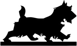 Scottie Dog Silhouette Foto de archivo