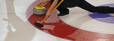 Scotties curling shadows Stock Photos