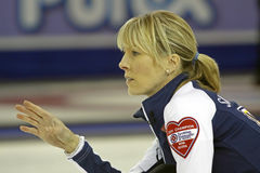 Scotties curling smith-dacey hand Royalty Free Stock Image