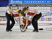 Scotties curling sweep Stock Image