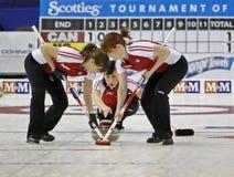 Scotties curling sweep stock image