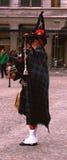 scottish волынщика amsterdam Стоковое Изображение RF