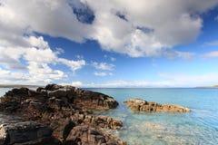 scottish гористой местности пляжа Стоковые Изображения RF