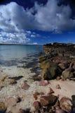 scottish гористой местности пляжа Стоковое Изображение