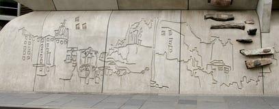 scottish парламента детали здания Стоковое Изображение