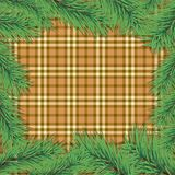 Scottish background with Christmas tree branch Royalty Free Stock Photography