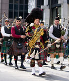 Scottish Bagpipe Band. Picture Taken During The 13th Annual Tartan Day Parade On Saturday April 9, 2011 In New York City. The Parade Begins At 45th Street On stock photography