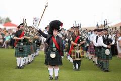 Scottish Bagpipe Band Royalty Free Stock Photo
