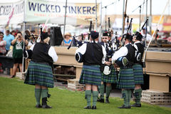 Scottish Bagpipe Band Royalty Free Stock Image