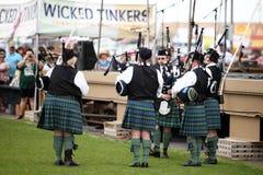 Scottish Bagpipe Band Royalty Free Stock Image