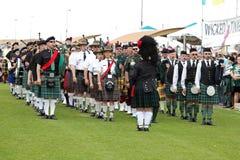 Scottish Bagpipe Band stock photo