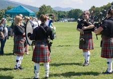 Scottish Bagpipe Group – 2018 Greenhill Highland Games, Salem, VA stock photo