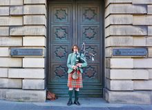 Scottish Bagpiper Stock Images