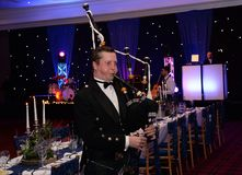 Scottish Bagpiper Royalty Free Stock Image