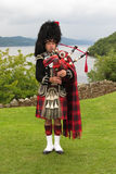 Scottish bagpiper Royalty Free Stock Images