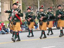 Scottish Bagpipers Stock Photography